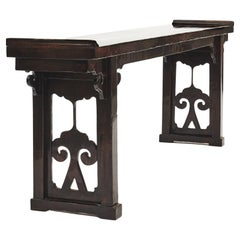 Chinese 19th Century Alter Console Table from Jiangsu