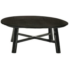 Chinese 19th Century Coffee Table, Original Black Lacquer