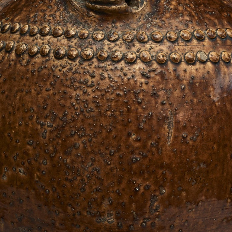 Chinese 19Th Century Earthenware Martaban Storage Jar For Sale 2