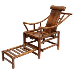 Chinese 19th Century Handcrafted Lounge Chair, 1850s