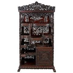 Chinese 19th Century Hardwood Shelves