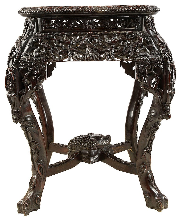 Chinese Export Chinese 19th Century Hardwood Stand For Sale