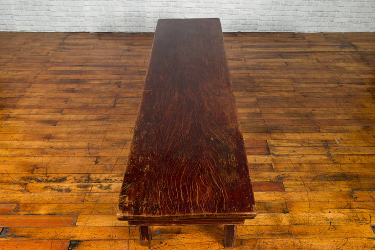 Chinese 19th Century Qing Dynasty Coffee Table with Distressed Patina For Sale 6