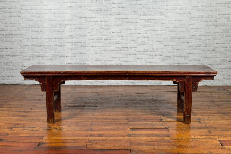 Chinese 19th Century Qing Dynasty Coffee Table with Distressed Patina For Sale 7