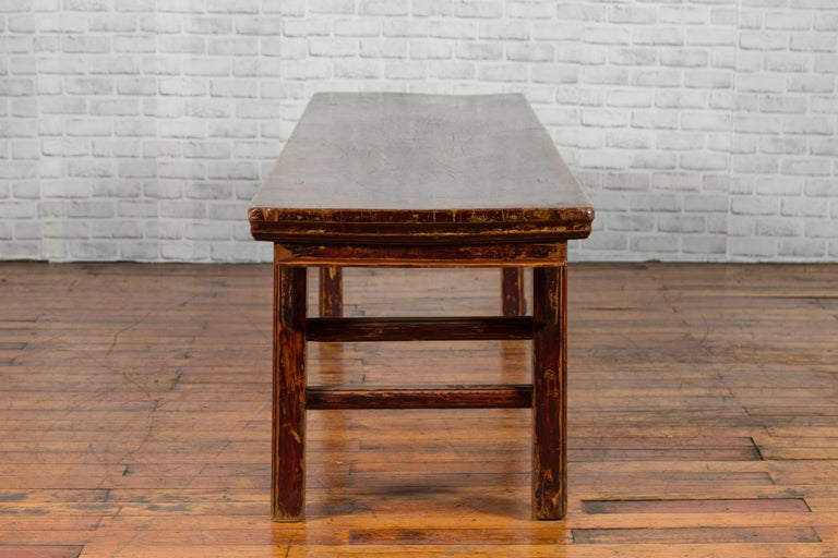 Chinese 19th Century Qing Dynasty Coffee Table with Distressed Patina For Sale 8