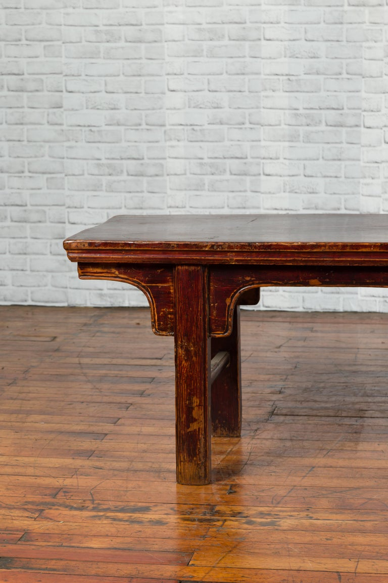 Chinese 19th Century Qing Dynasty Coffee Table with Distressed Patina For Sale 1
