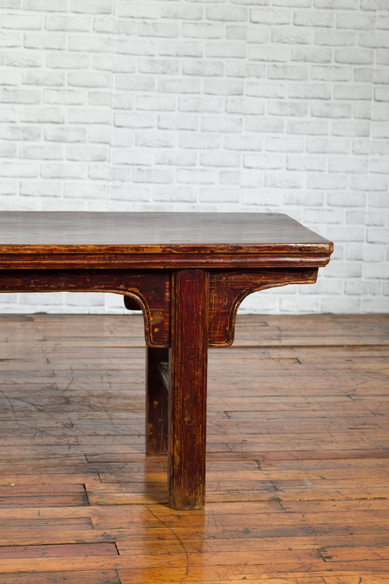 Chinese 19th Century Qing Dynasty Coffee Table with Distressed Patina For Sale 2