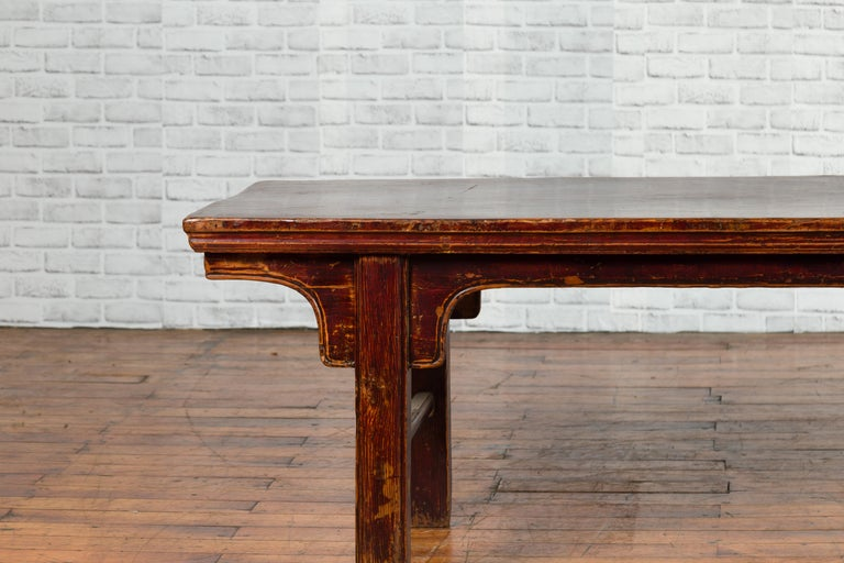 Chinese 19th Century Qing Dynasty Coffee Table with Distressed Patina For Sale 3