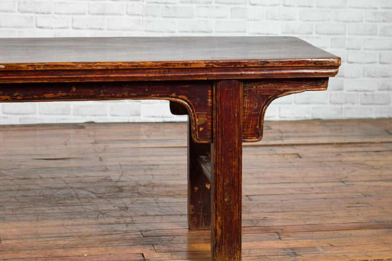 Chinese 19th Century Qing Dynasty Coffee Table with Distressed Patina For Sale 4