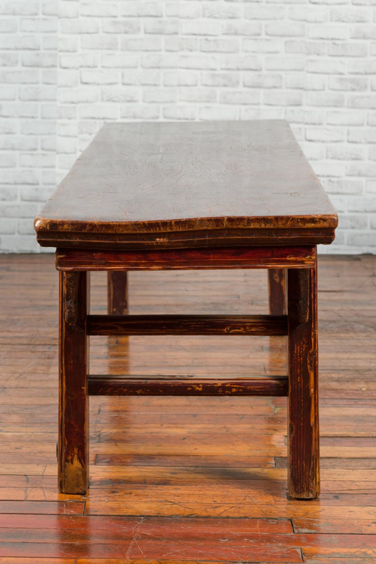 Chinese 19th Century Qing Dynasty Coffee Table with Distressed Patina For Sale 5