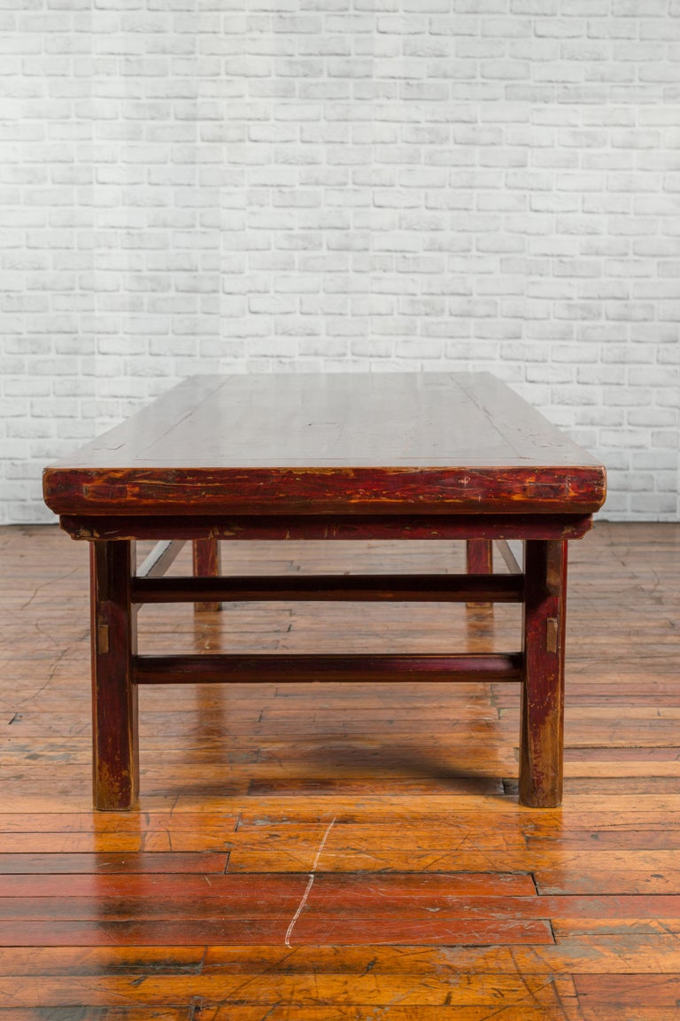 Chinese 19th Century Qing Dynasty Period Coffee Table with Distressed Patina For Sale 6