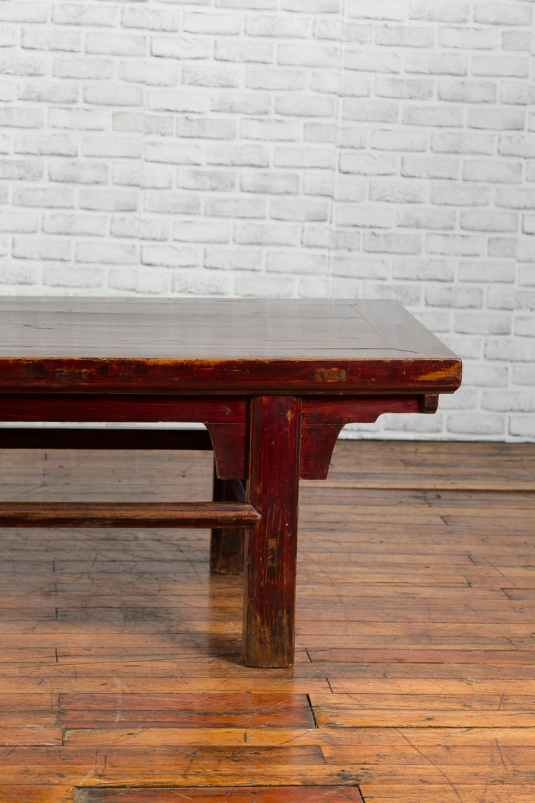 Chinese 19th Century Qing Dynasty Period Coffee Table with Distressed Patina For Sale 1