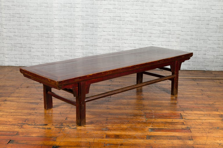 Chinese 19th Century Qing Dynasty Period Coffee Table with Distressed Patina For Sale 2