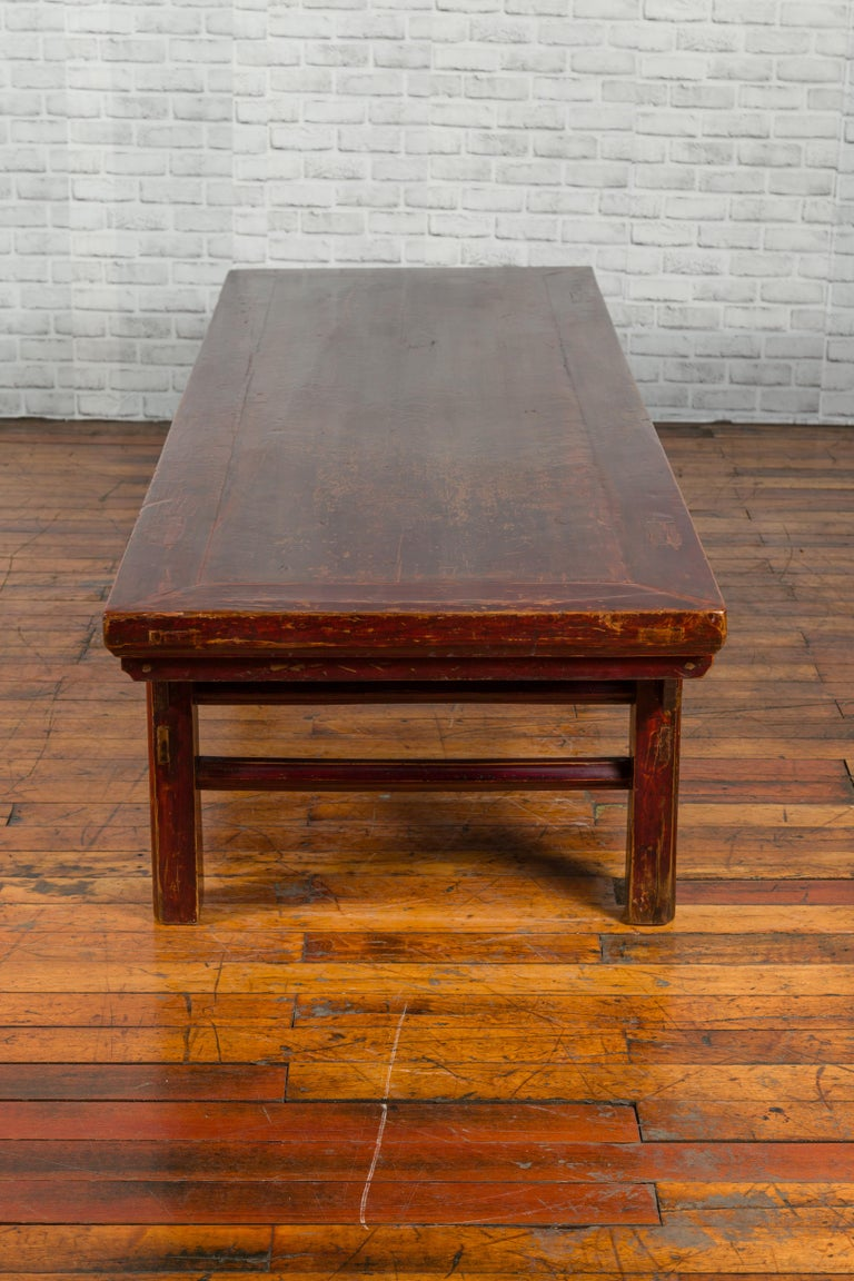 Chinese 19th Century Qing Dynasty Period Coffee Table with Distressed Patina For Sale 3