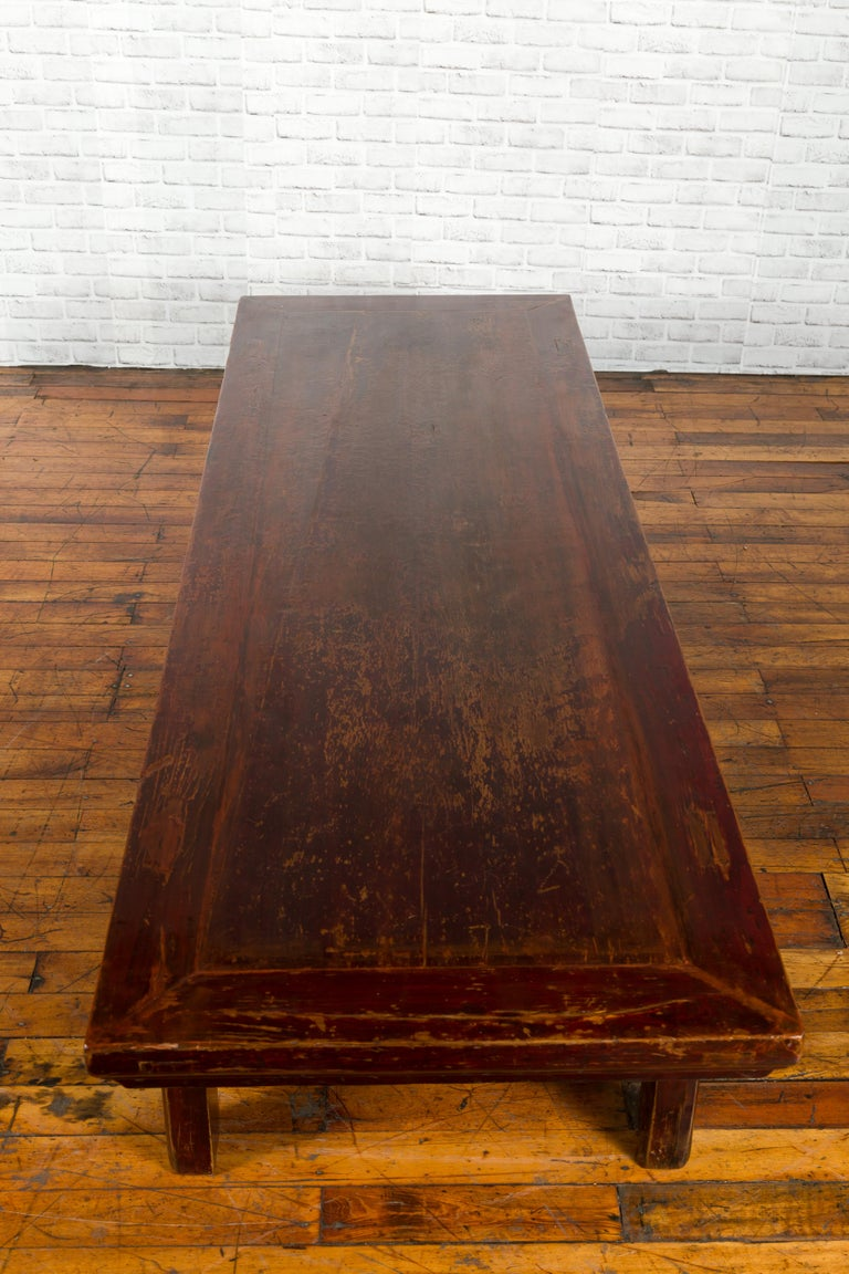Chinese 19th Century Qing Dynasty Period Coffee Table with Distressed Patina For Sale 4