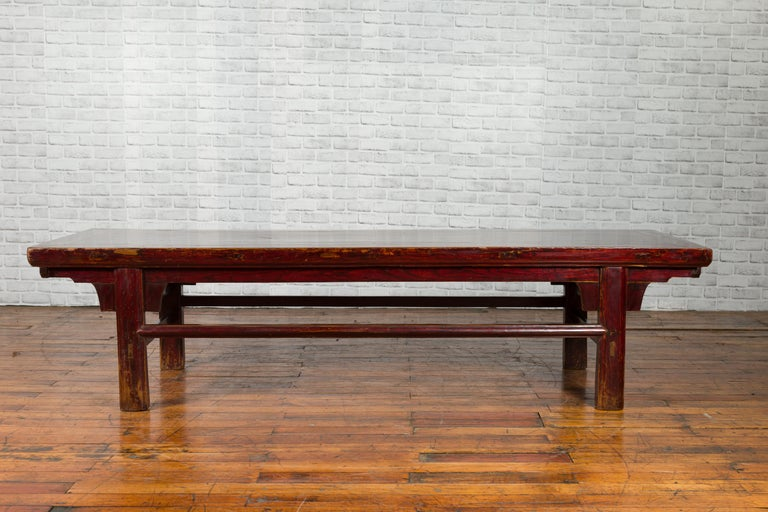 Chinese 19th Century Qing Dynasty Period Coffee Table with Distressed Patina For Sale 5