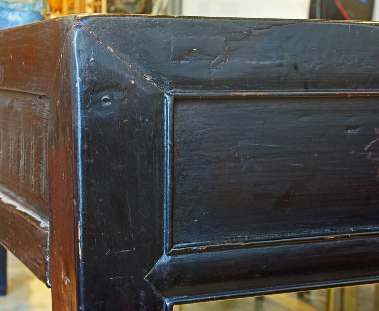 Chinese 7 Drawer Lacquered Console Table, 8 Feet Plus Long, Restored 3