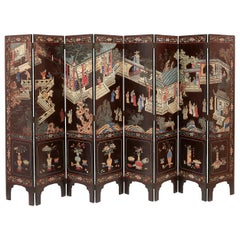 Chinese 8 Fold Coromandel Screen, circa 1900