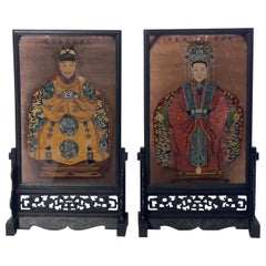 Chinese Ancestral Reverse Paintings on Glass