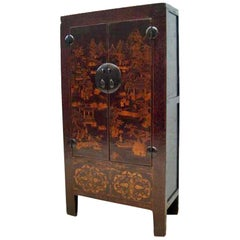 Chinese Antique Chinoiserie Style Cabinet