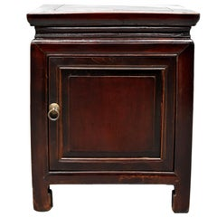 Chinese Antique Cube Chest, Nightstand Table