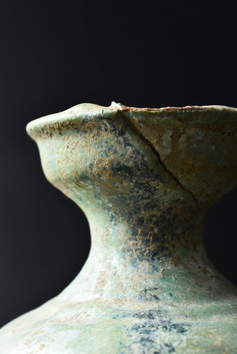 Chinese Antique Han Dynasty Green Glazed Silver Jar, 1st-3rd Century For Sale 2