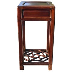 Chinese Antique Ming Style Side Table Lamp Table