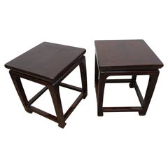 Chinese Antique Side Tables Pair