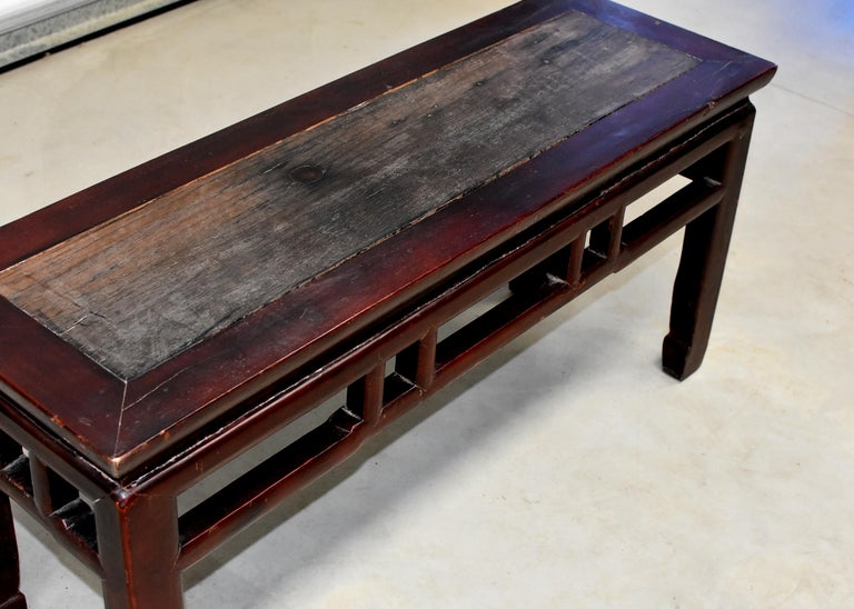 Chinese Antique Solid Wood Bench, Ming Style Spring Bench ...