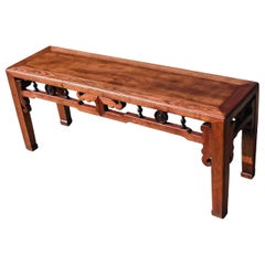 Chinese Antique Spring Bench, Double Sided, Natural Finish