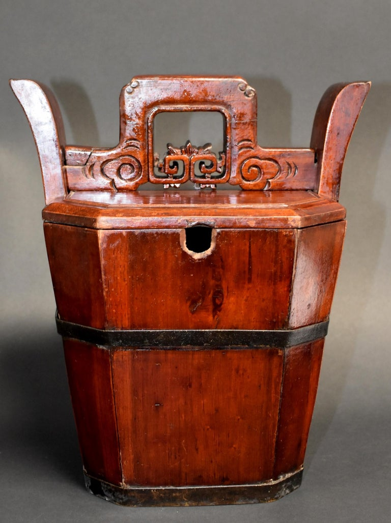 Hand-Crafted Chinese Antique Tea Basket For Sale