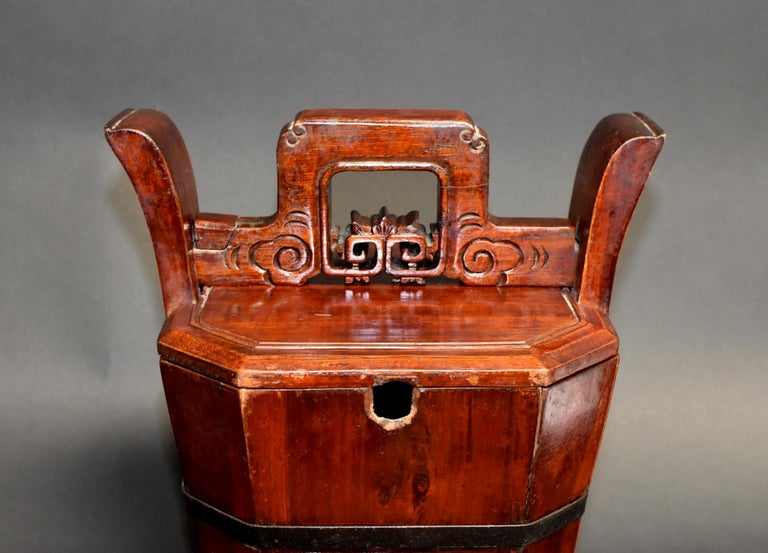 Chinese Antique Tea Basket In Good Condition For Sale In Somis, CA