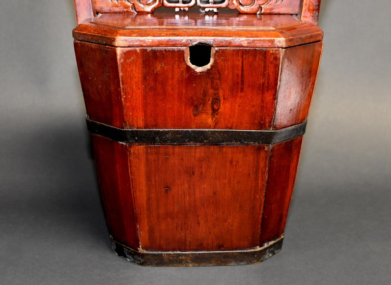 19th Century Chinese Antique Tea Basket For Sale