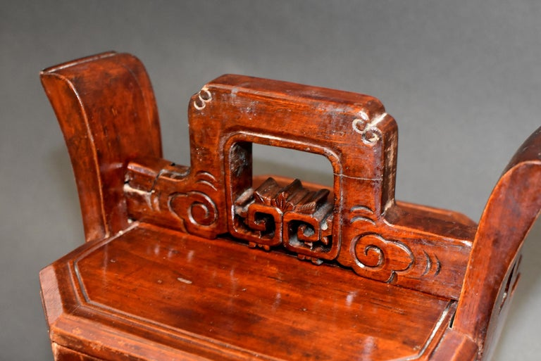 Wood Chinese Antique Tea Basket For Sale