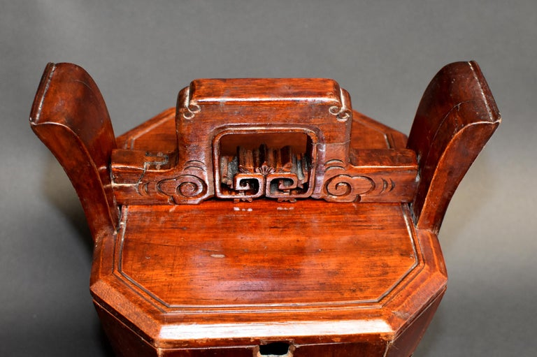 Chinese Antique Tea Basket For Sale 2