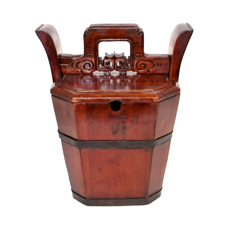 Chinese Antique Tea Basket For Sale
