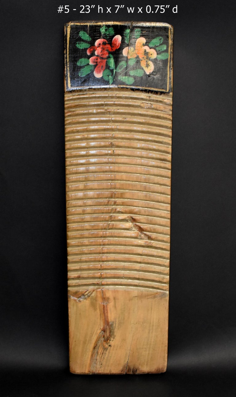 Chinese Antique Washboard Hand Painted For Sale 9