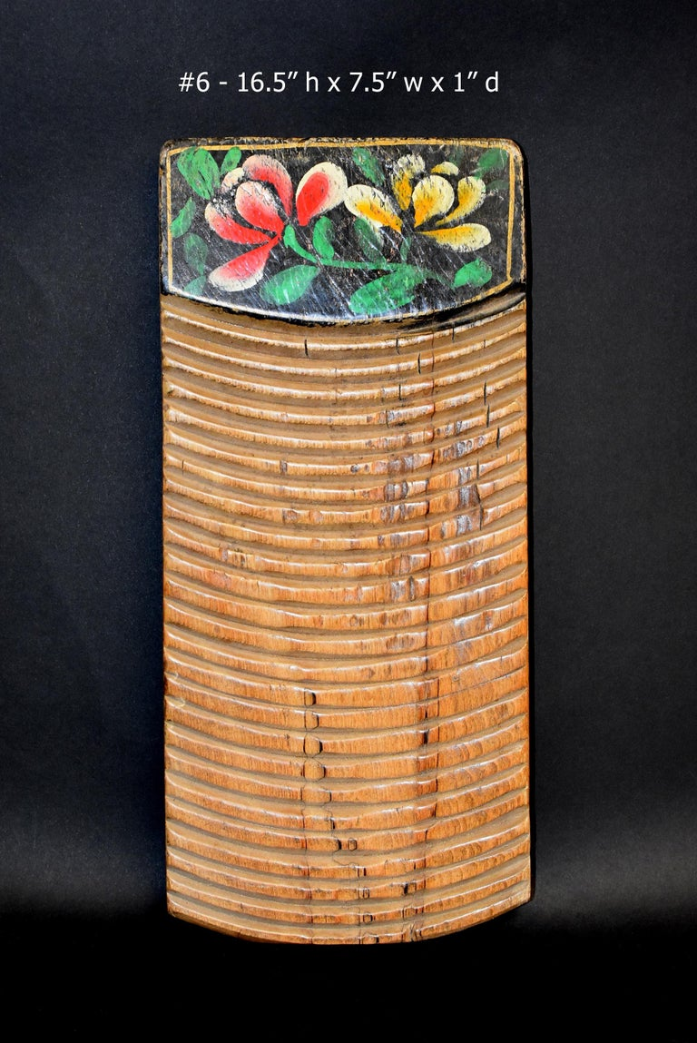 Chinese Antique Washboard Hand Painted For Sale 10