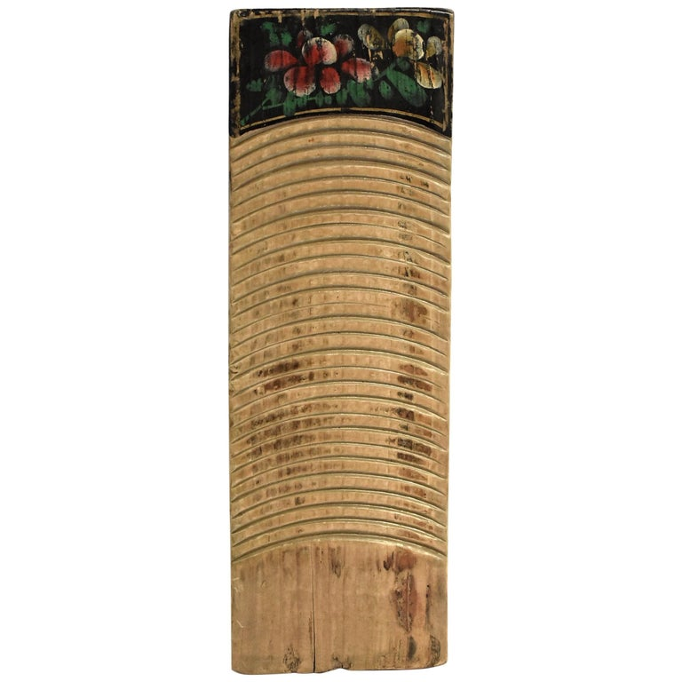 Chinese Antique Washboard Hand Painted For Sale