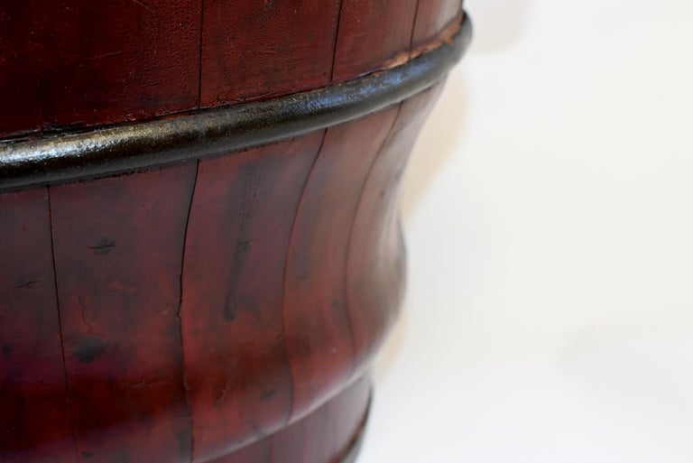 Chinese Antique Wedding Basket Bucket Yin Yang Motif For Sale 4