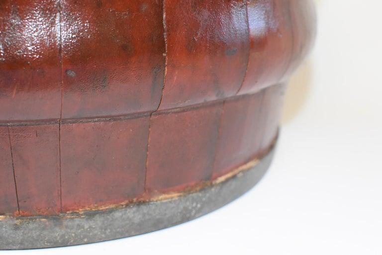 Chinese Antique Wedding Basket Bucket Yin Yang Motif For Sale 5