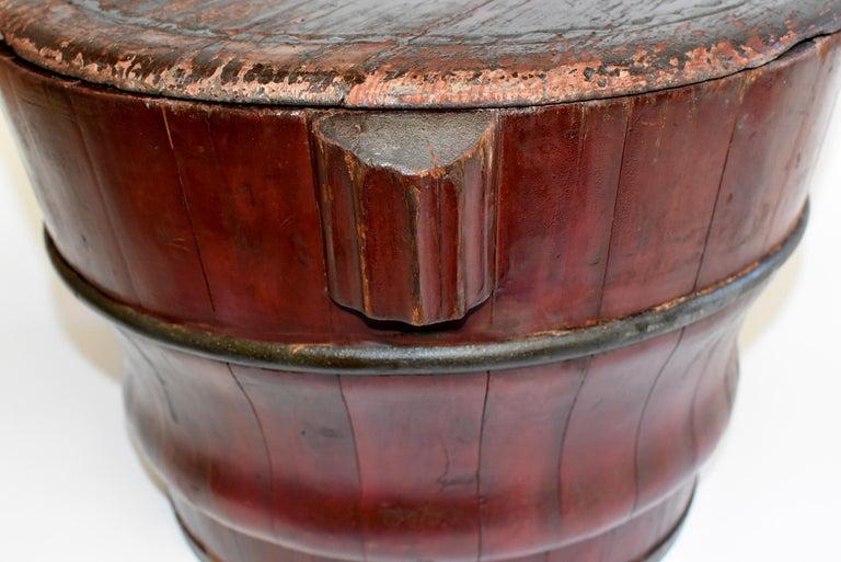 Chinese Antique Wedding Basket Bucket Yin Yang Motif For Sale 10