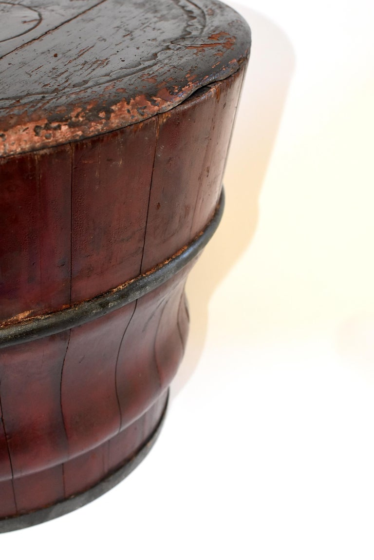 Chinese Antique Wedding Basket Bucket Yin Yang Motif For Sale 11
