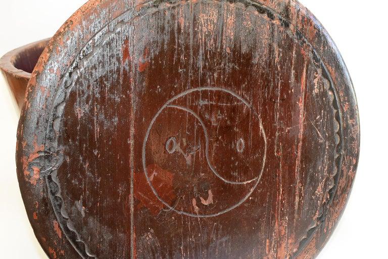 Chinese Antique Wedding Basket Bucket Yin Yang Motif For Sale 2