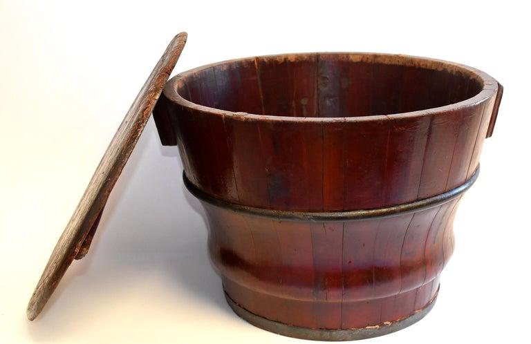 Chinese Antique Wedding Basket Bucket Yin Yang Motif For Sale 3