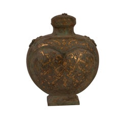 Chinese Archaic Style Bronze Flask, 20th century