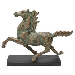 Chinese Archaic Style Running Horse Figure