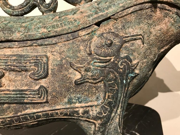 Chinese Archaistic Bronze Ritual Ram-Form Wine Vessel For Sale 9