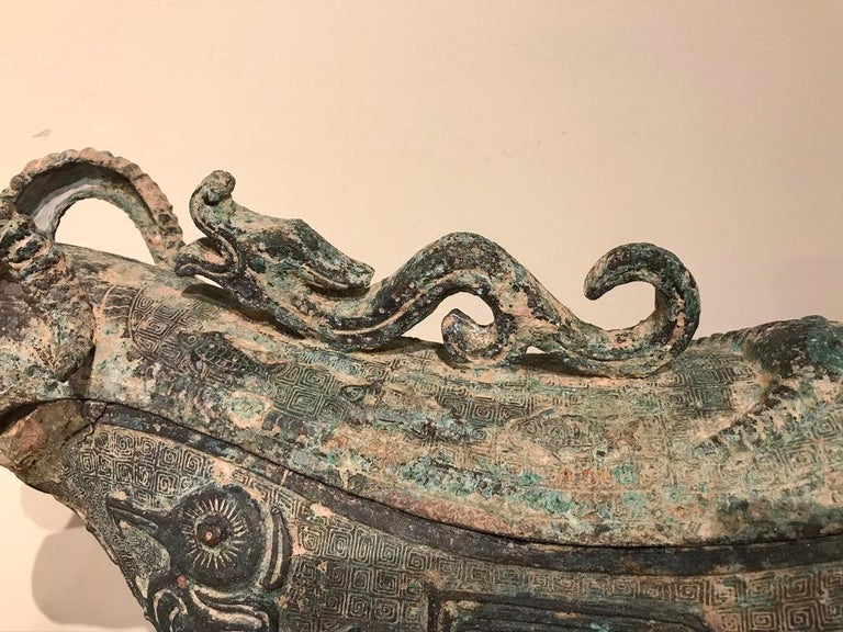 Chinese Archaistic Bronze Ritual Ram-Form Wine Vessel For Sale 3