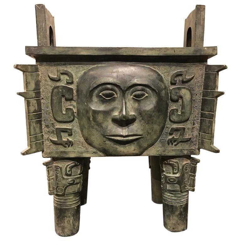 Chinese Archaistic Bronze Ritual Vessel